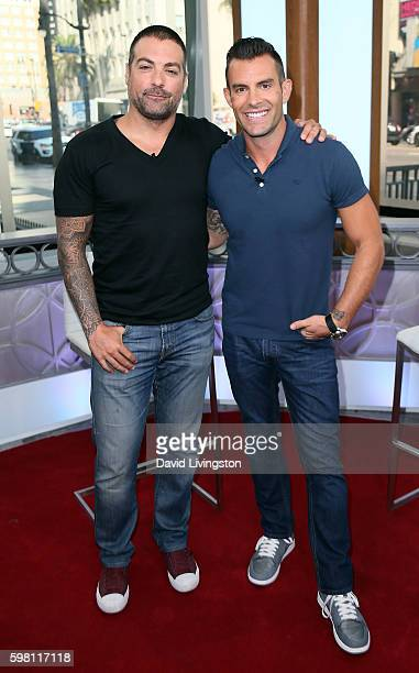TV personalities Anthony Carrino and John Colaneri visit Hollywood Today Live at W Hollywood on August 31 2016 in Hollywood California