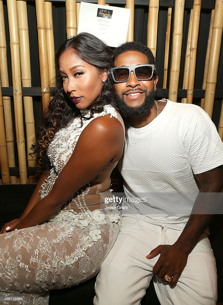 TV personalities Apryl Jones and Omarion attend the Love ...