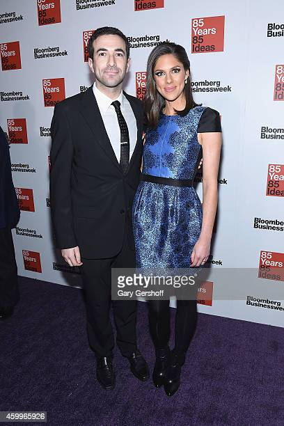 TV personalities Ari Melber and Abby Huntsman attend Bloomberg Businessweek's 85th Anniversary Celebration at The American Museum of Natural History...