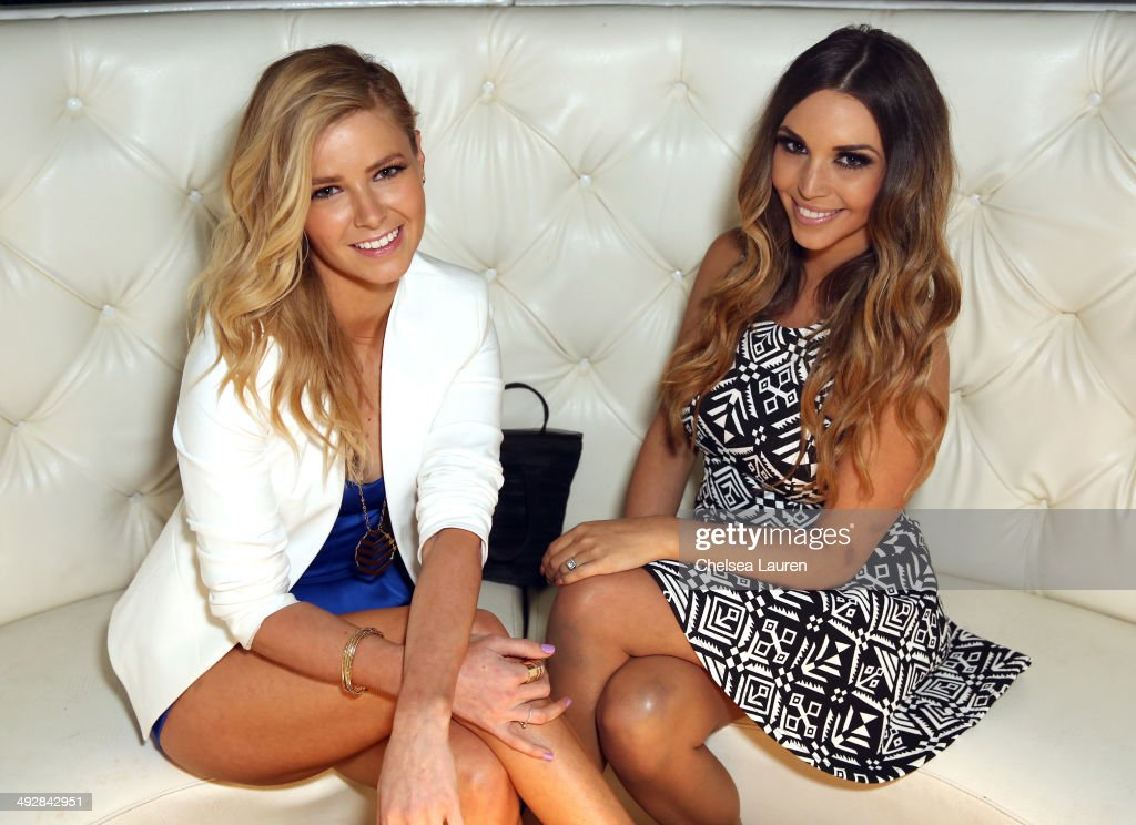 TV personalities Ariana Madix (L) and Scheana Marie attend OK Magazine's So Sexy L.A. Event at LURE on May 21, 2014 in Los Angeles, California.