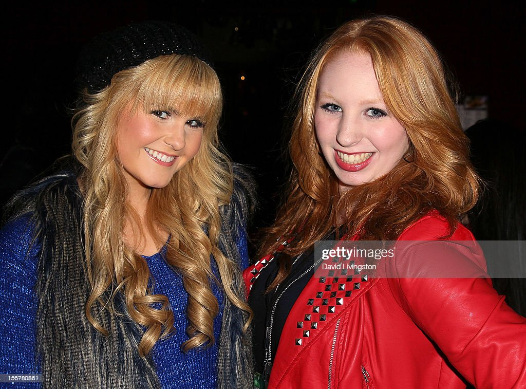 TV personalities Ashlee Keating (L) and Elizabeth Stanton attend Associated Television International's 2012 Hollywood Christmas Parade Concert at Universal CityWalk's 5 Towers on November 20, 2012 in Universal City, California.