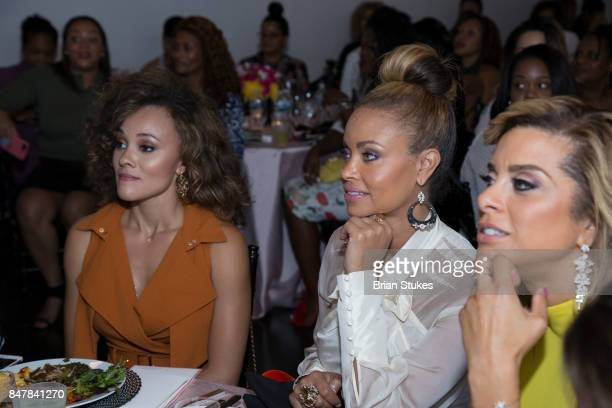 TV personalities Ashley Darby Gizelle Bryant and Robyn Dixon attend 'She Is Empowered' Business Branding and Wealth Building Dinner Series at Loft...