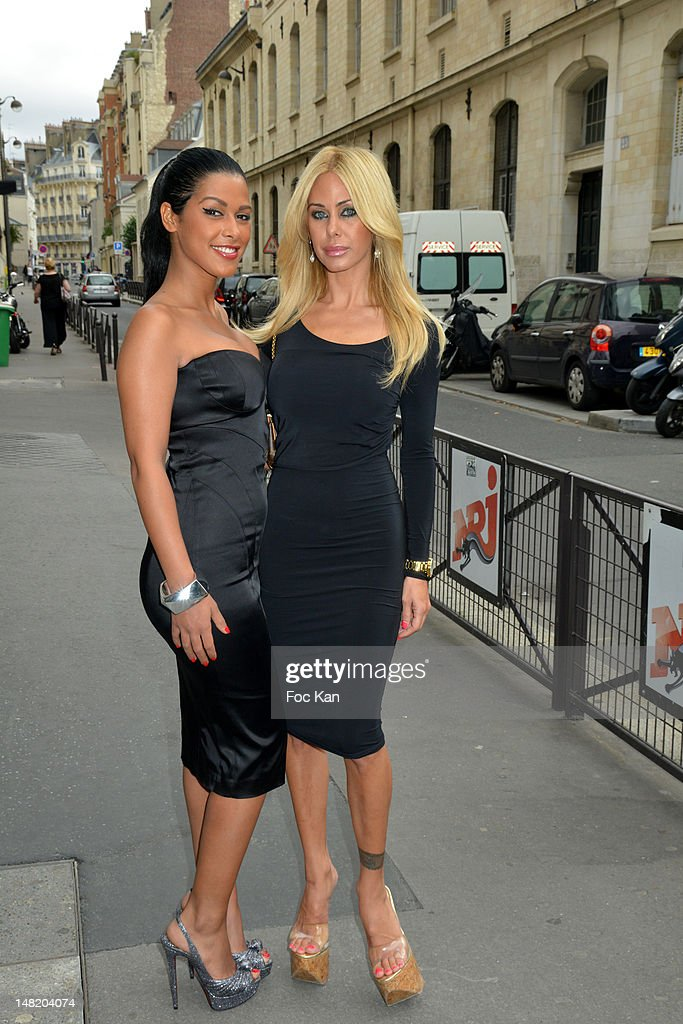 TV personalities Ayem Nour and <a gi-track='captionPersonalityLinkClicked' href=/galleries/search?phrase=Shauna+Sand&family=editorial&specificpeople=797025 ng-click='$event.stopPropagation()'>Shauna Sand</a>Êattend the NRJ 12 Reality TV Press Conference at NRJ 12 Studio on July 12, 2012 in Paris, France.