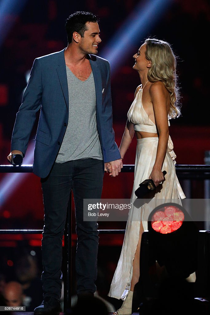TV personalities Ben Higgins and Lauren Bushnell speak onstage during the 2016 iHeartCountry Festival at The Frank Erwin Center on April 30, 2016 in Austin, Texas.