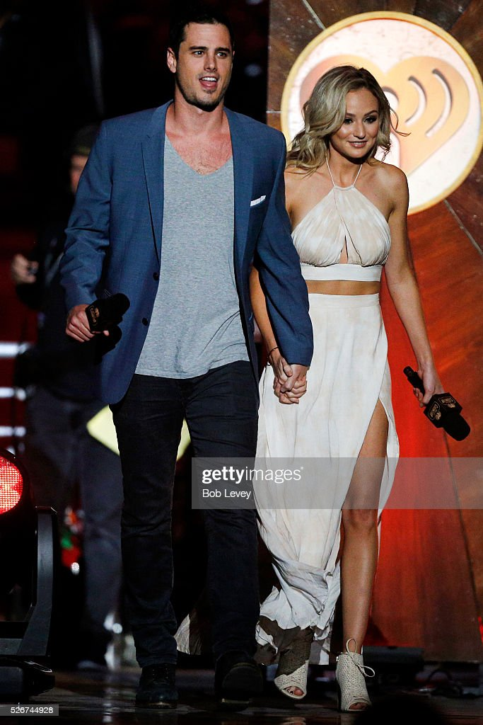 TV personalities Ben Higgins and Lauren Bushnell walk onstage during the 2016 iHeartCountry Festival at The Frank Erwin Center on April 30, 2016 in Austin, Texas.