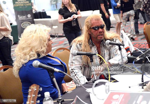 TV personalities Beth Chapman and Dog the Bounty Hunter attend the Dial Global Radio Remotes during The 48th Annual Academy of Country Music Awards...