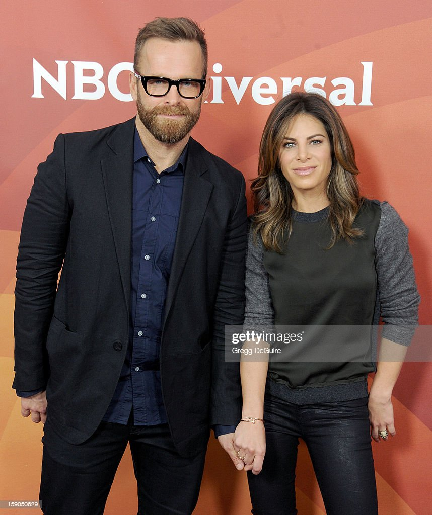TV personalities Bob Harper and <a gi-track='captionPersonalityLinkClicked' href=/galleries/search?phrase=Jillian+Michaels&family=editorial&specificpeople=2303813 ng-click='$event.stopPropagation()'>Jillian Michaels</a> pose at the 2013 NBC Universal TCA Winter Press Tour Day 1 at The Langham Huntington Hotel and Spa on January 6, 2013 in Pasadena, California.