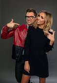 TV personalities Brad Goreski and Giuliana Rancic pose for a portrait during the NBCUniversal Press Day at The Langham Huntington Pasadena on January...