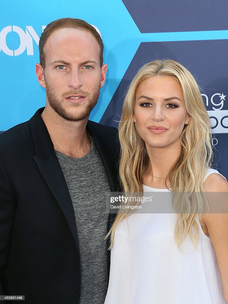 TV personalities Brendan Fitzpatrick (L) and Morgan Stewart attend the 16th Annual Young Hollywood Awards at The Wiltern on July 27, 2014 in Los Angeles, California.