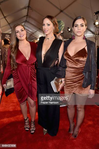 TV personalities Brittany Cartwright Kristen Doute and Katie Maloney attend the 2017 iHeartRadio Music Awards which broadcast live on Turner's TBS...