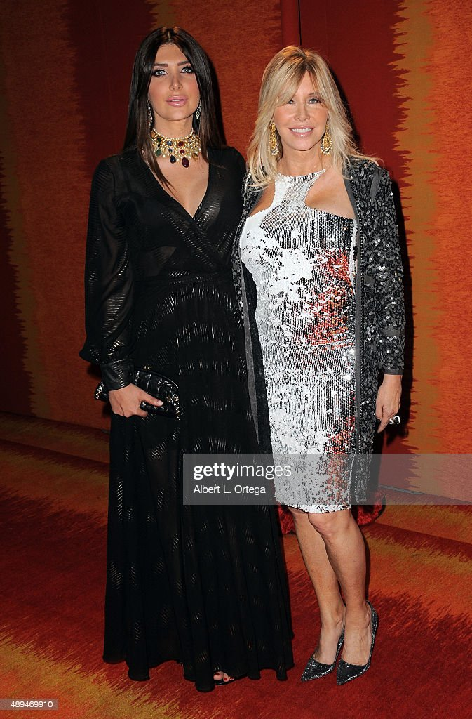 TV personalities Brittny Gastineau and Lisa Gastineau arrive for the HBO's Official 2015 Emmy After Party held at The Plaza at the Pacific Design Center on September 20, 2015 in Los Angeles, California.