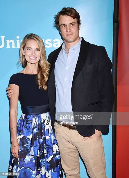 TV personalities Cameran Eubanks and Shep Rose arrive at the 2016 Summer TCA Tour NBCUniversal Press Tour at the Four Seasons Hotel Westlake Village...