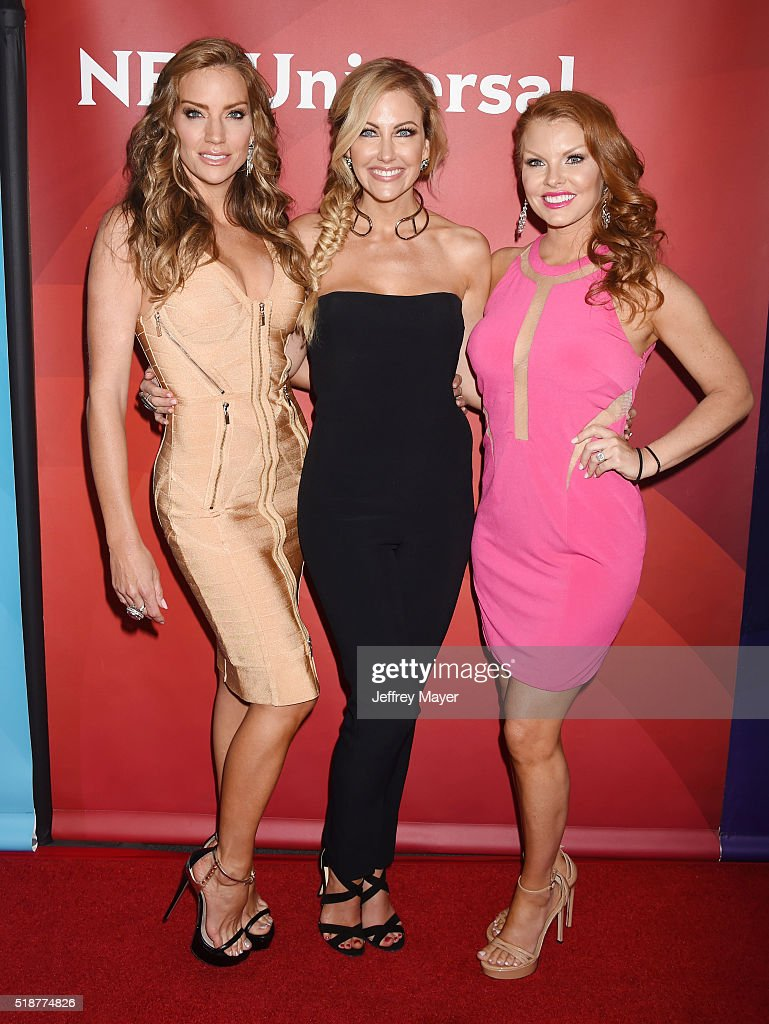 TV personalities Cary Deuber; Stephanie Hollman; Brandi Redmond arrives at the 2016 Summer TCA Tour - NBCUniversal Press Tour at the Four Seasons Hotel - Westlake Village on April 1, 2016 in Westlake Village, California.