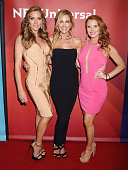 TV personalities Cary Deuber Stephanie Hollman Brandi Redmond arrives at the 2016 Summer TCA Tour NBCUniversal Press Tour at the Four Seasons Hotel...