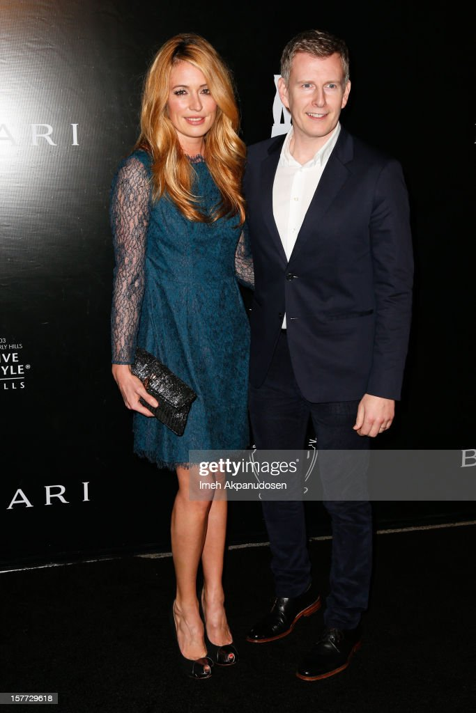 TV personalities Cat Deeley (L) and Patrick Kielty attend the Rodeo Drive Walk Of Style honoring BVLGARI and Mr. Nicola Bulgari held at Bulgari on December 5, 2012 in Beverly Hills, California.