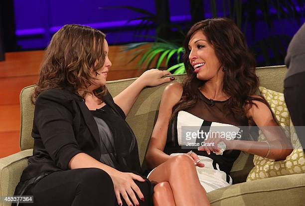 TV personalities Catelynn Lowell and Farrah Abraham attend the VH1 'Couples Therapy' With Dr Jenn Reunion at GMT Studios on August 8 2014 in Culver...