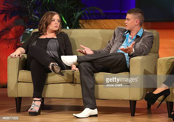 TV personalities Catelynn Lowell and Tyler Baltierra attend the VH1 'Couples Therapy' With Dr Jenn Reunion at GMT Studios on August 8 2014 in Culver...