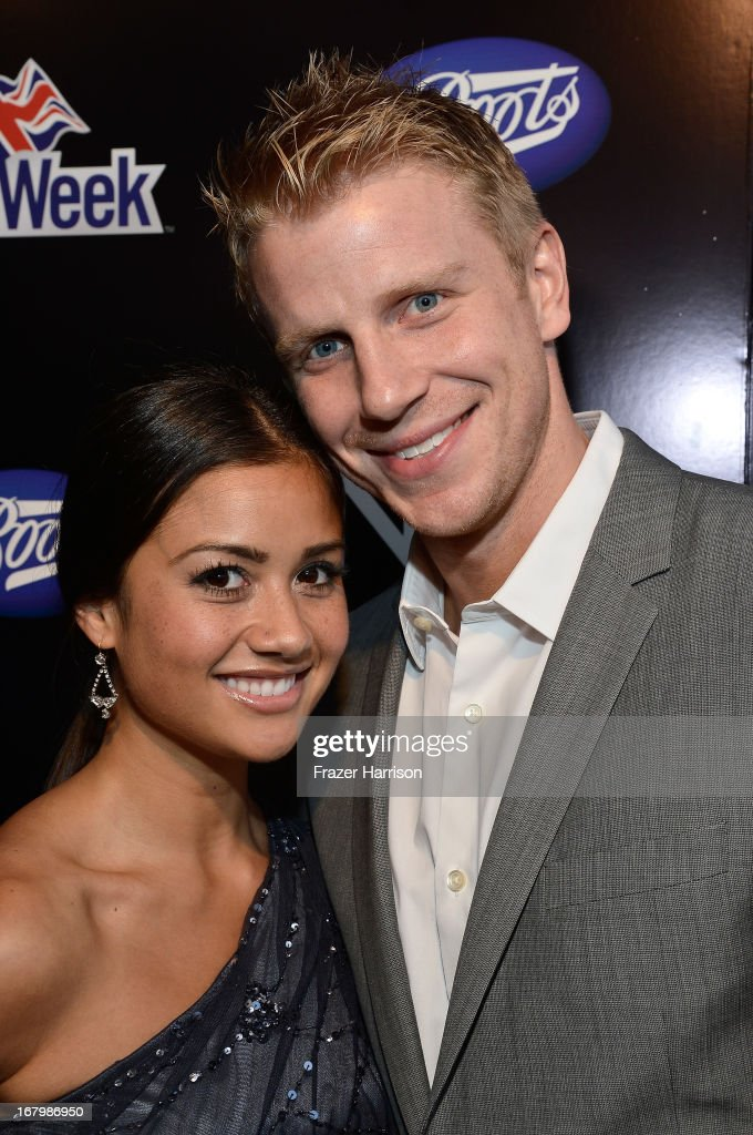 TV personalities Catherine Giudic and Sean Lowe attend the Boots Not Men Launch at Britweek 2013 at The Fairmont Miramar Hotel on May 3, 2013 in Santa Monica, California.