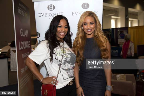 TV personalities Charisse JacksonJordan Gizelle Bryant attend 'Hue Beauty' during 47th Annual Legislative Conference Exhibit at Walter E Washington...
