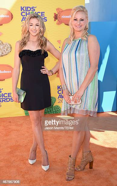 TV personalities Chloe Lukasiak and Christi Lukasiak attend Nickelodeon's 28th Annual Kids' Choice Awards held at The Forum on March 28 2015 in...