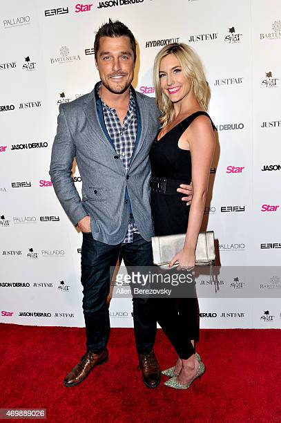 TV personalities Chris Soules and Whitney Bischoff attend Star Magazine's Hollywood Rocks Event with Jason Derulo at The Argyle on April 15 2015 in...