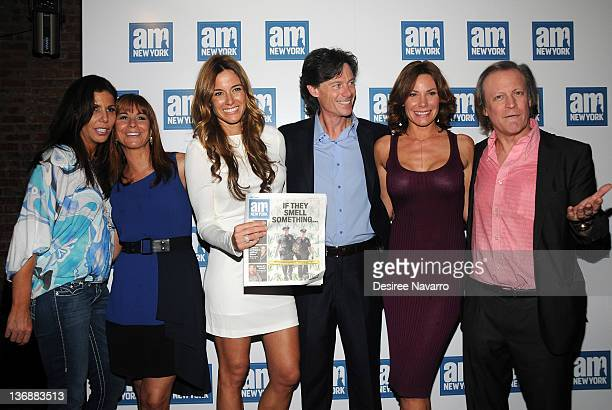 TV Personalities Cindy Barshop Jill Zarin Kelly Killoren Bensimon Paul Turcotte LuAnn de Lesseps and photographer Patrick McMullan attend a welcome...