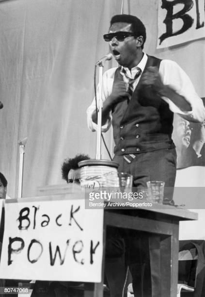 July 1967 Stokely Carmichael TrinidadianAmerican black activist active in the 1960's American Civil Rights Movement pictured speaking in London