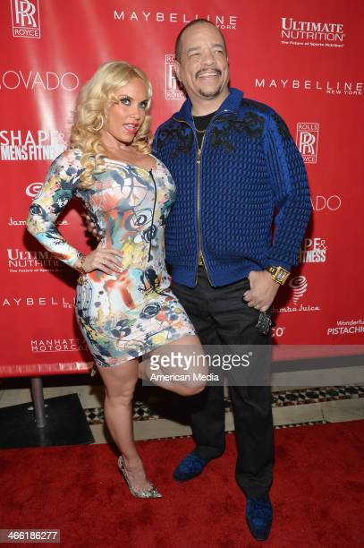 Personalities Coco and IceT attend SHAPE Men's Fitness Kickoff Party at Cipriani 42nd Street on January 31 2014 in New York City