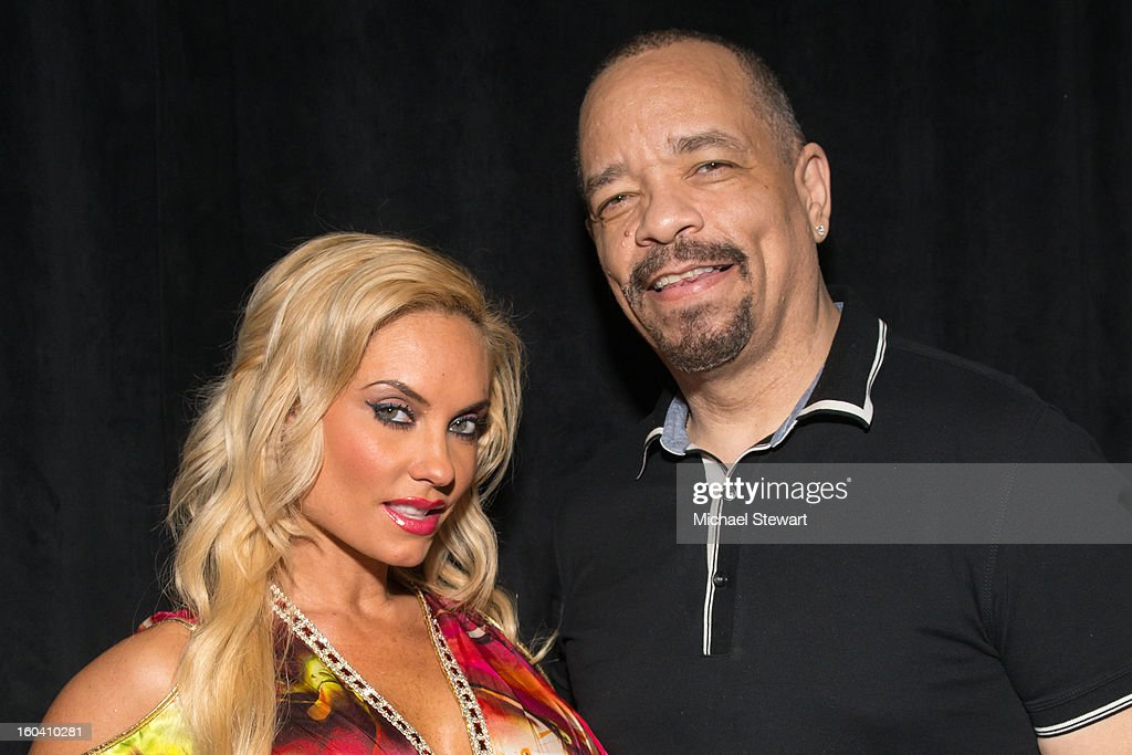 TV personalities <a gi-track='captionPersonalityLinkClicked' href=/galleries/search?phrase=Coco+Austin&family=editorial&specificpeople=207511 ng-click='$event.stopPropagation()'>Coco Austin</a> (L) and <a gi-track='captionPersonalityLinkClicked' href=/galleries/search?phrase=Ice-T&family=editorial&specificpeople=213017 ng-click='$event.stopPropagation()'>Ice-T</a> STK Midtown 1-Year Anniversary dinner party on January 30, 2013 in New York City.