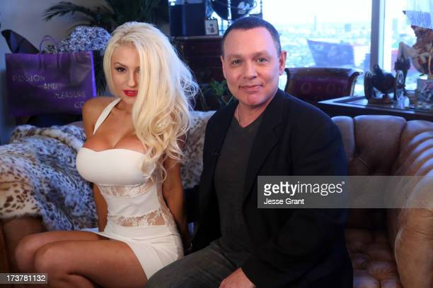 TV personalities Courtney Stodden and Doug Hutchinsoni in session with Dr Ava Cadell for The Passion and Pleasure Program on July 17 2013 in West...