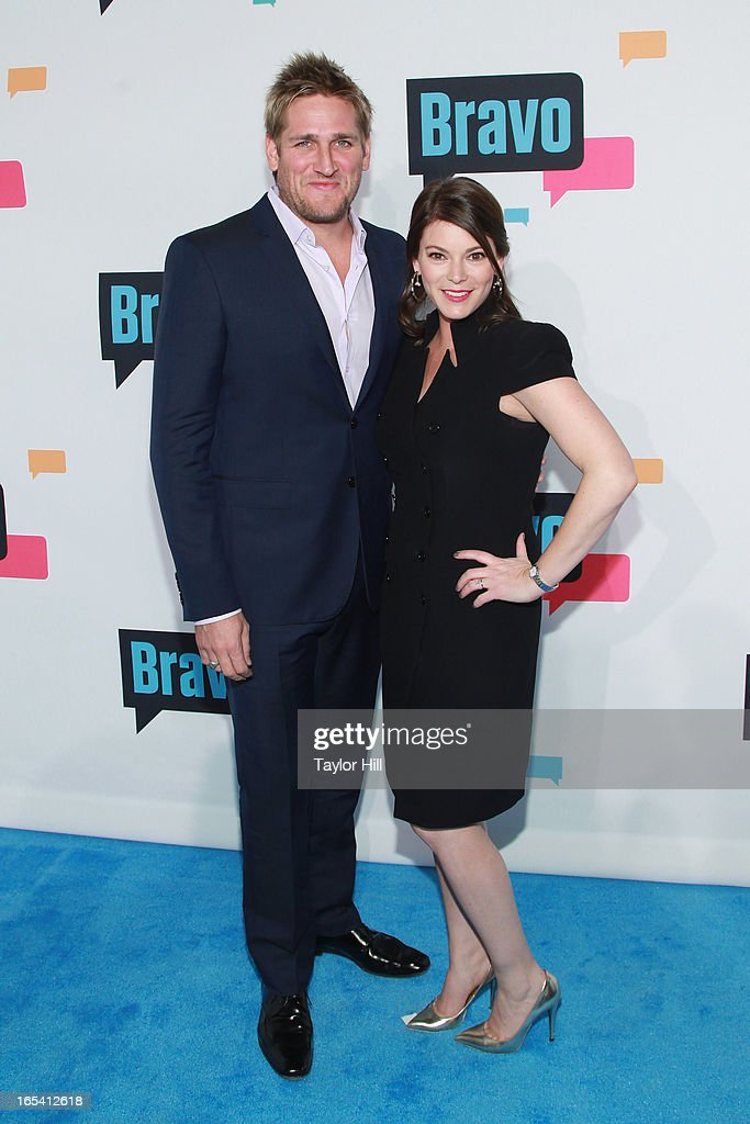 TV personalities Curtis Stone and Gail Simmons of 'Top Chef' attend the 2013 Bravo Upfront at Pillars 37 Studios on April 3, 2013 in New York City.