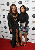 TV personalities Cyrene Tankard and Sharon Carpenter attend the IVY Innovator Design Awards Presented By Cadillac on December 9 2015 in New York City