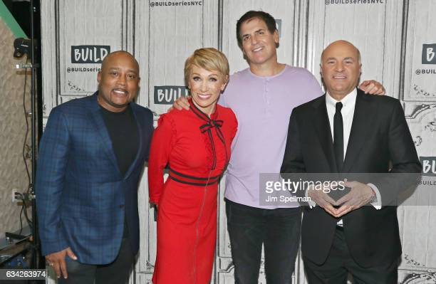 TV personalities Daymond John Barbara Corcoran Mark Cuban and Kevin O'Leary attend the Build series to Discuss 'Shark Tank' at Build Studio on...