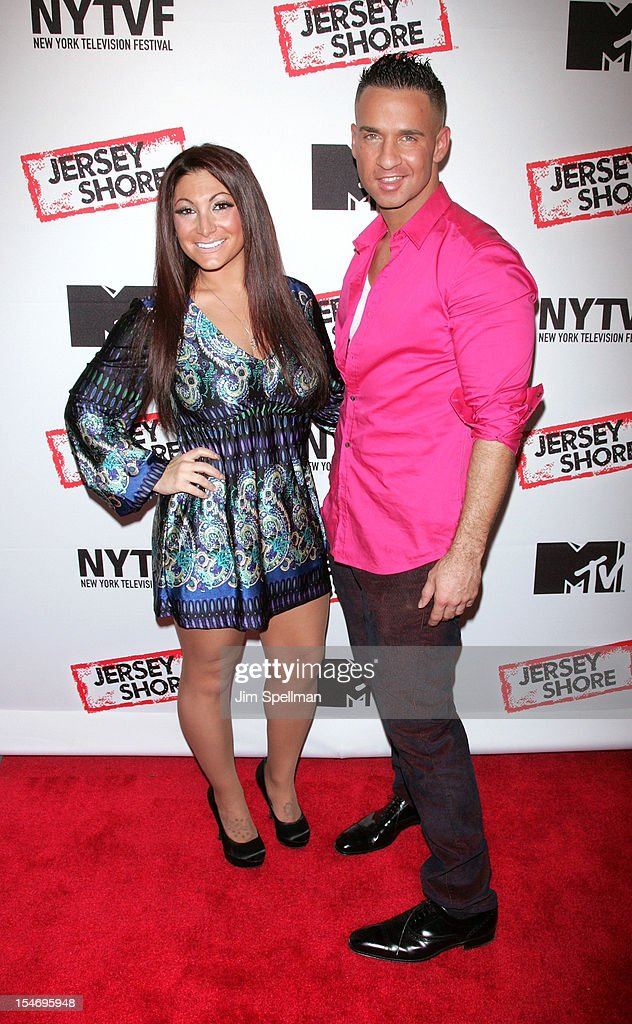 TV Personalities Deena Cortese and Mike 'The Situation' Sorrentino attend 'Love, Loss, (Gym, Tan) and Laundry: A Farewell To The Jersey Shore' during the 2012 New York Television Festival at 92Y Tribeca on October 24, 2012 in New York City.