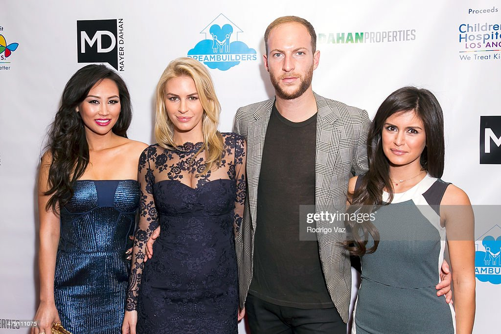 TV personalities Dorothy Wang, Morgan Stewart, Brendan Fitzpatrick and Roxy Sowlaty attend The Dream Builders Project 'A Brighter Future For Children' at H.O.M.E. on March 15, 2014 in Beverly Hills, California.