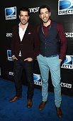 TV personalities Drew Scott and Jonathan Silver Scott attend DirecTV Super Saturday Night hosted by Mark Cuban's AXS TV and Pro Football Hall of...