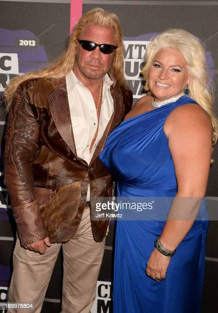 "TV personalities Duane ""Dog"" Lee Chapman and Beth Chapman arrive at the 2013 CMT Music Awards at the Bridgestone Arena on June 5 2013 in Nashville..."