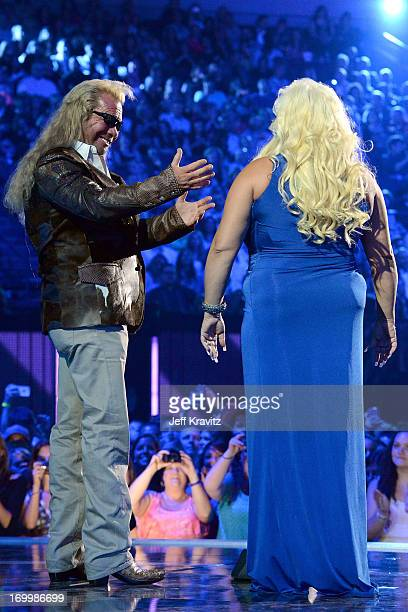 "TV personalities Duane ""Dog"" Lee Chapman and Beth Chapman speak onstage at the 2013 CMT Music Awards at the Bridgestone Arena on June 5 2013 in..."