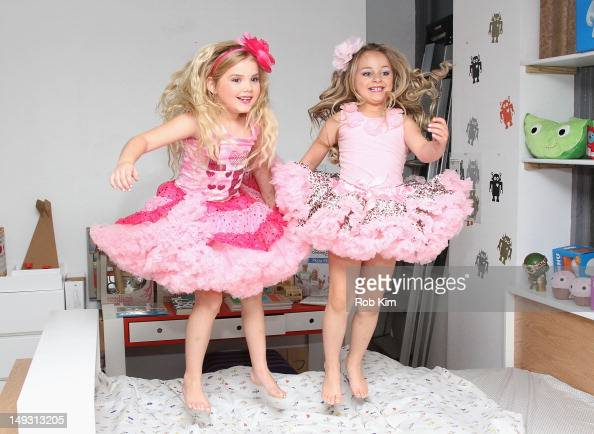 TV personalities Eden Wood and Isabella Barrett attend Tiny Tots Mini Mogul Fashion event at Babestas on July 26 2012 in New York City