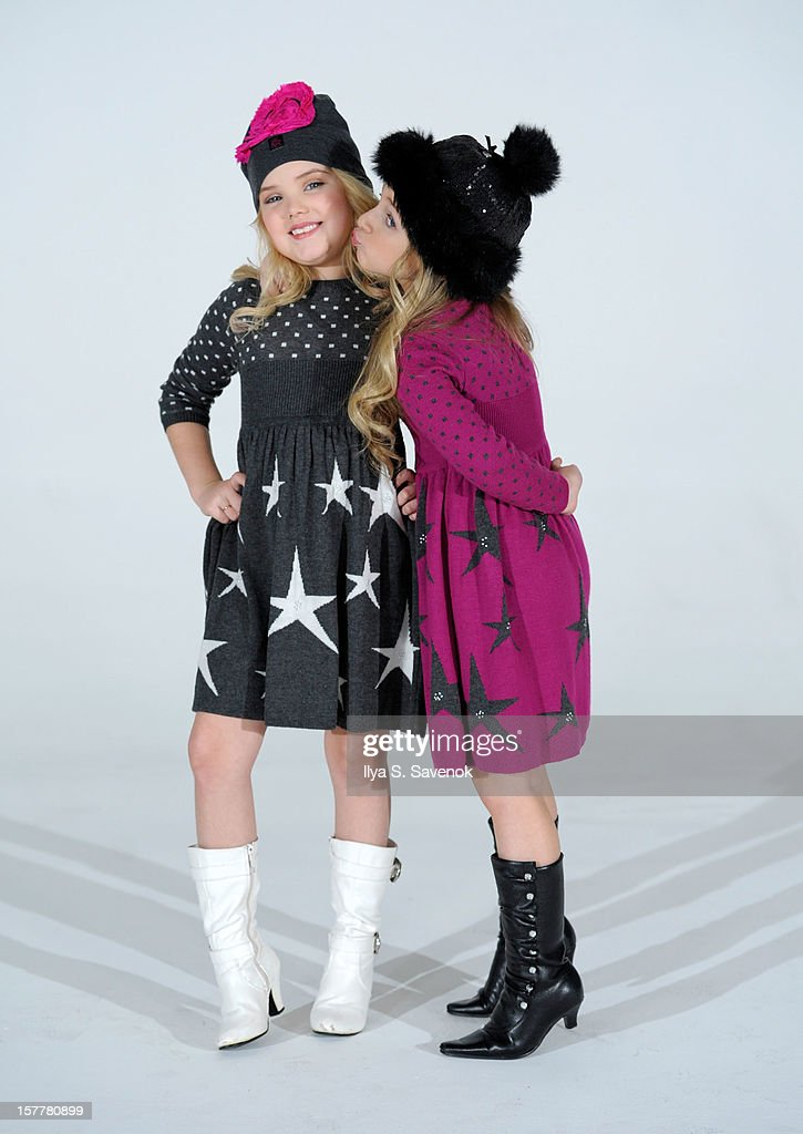 TV personalities Eden Wood (L) and Isabella Barrett perform during Eden Wood and Isabella Barrett 'LOL' Music video shoot at Picture Ray Studios on December 6, 2012 in New York City.