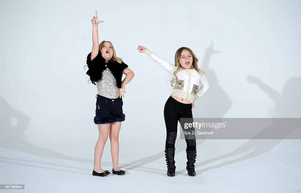 TV personalities <a gi-track='captionPersonalityLinkClicked' href=/galleries/search?phrase=Eden+Wood&family=editorial&specificpeople=9126806 ng-click='$event.stopPropagation()'>Eden Wood</a> (L) and Isabella Barrett perform during <a gi-track='captionPersonalityLinkClicked' href=/galleries/search?phrase=Eden+Wood&family=editorial&specificpeople=9126806 ng-click='$event.stopPropagation()'>Eden Wood</a> and Isabella Barrett 'LOL' Music video shoot at Picture Ray Studios on December 6, 2012 in New York City.