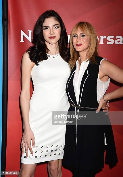TV personalities Ella Giselle and Zackary Drucker arrive at the 2016 Summer TCA Tour NBCUniversal Press Tour at the Four Seasons Hotel Westlake...