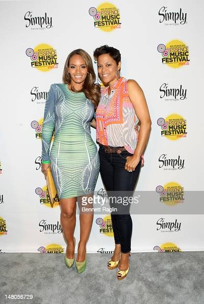 TV personalities Evelyn Lozada and Shaunie O'Neal attend the 2012 Essence Music Festival at Ernest N Morial Convention Center on July 8 2012 in New...