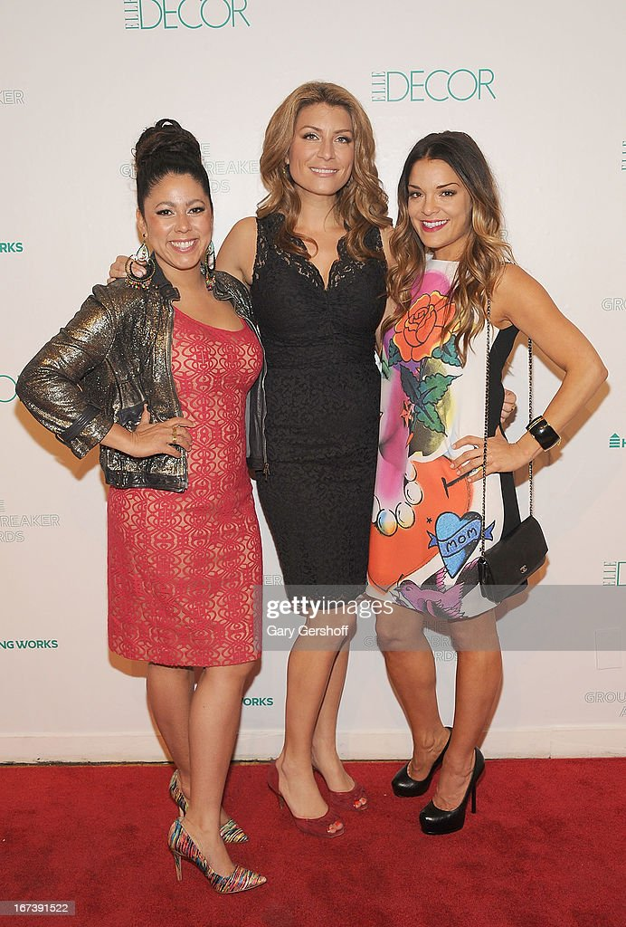 TV personalities Evette Rios, <a gi-track='captionPersonalityLinkClicked' href=/galleries/search?phrase=Genevieve+Gorder&family=editorial&specificpeople=226995 ng-click='$event.stopPropagation()'>Genevieve Gorder</a> and Sabrina Soto attend Housing Works Groundbreaker Awards at Metropolitan Pavilion on April 24, 2013 in New York City.