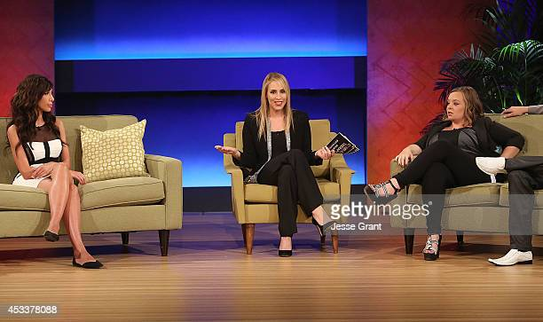 TV personalities Farrah Abraham Dr Jenn Berman and Catelynn Lowell attend the VH1 'Couples Therapy' With Dr Jenn Reunion at GMT Studios on August 8...