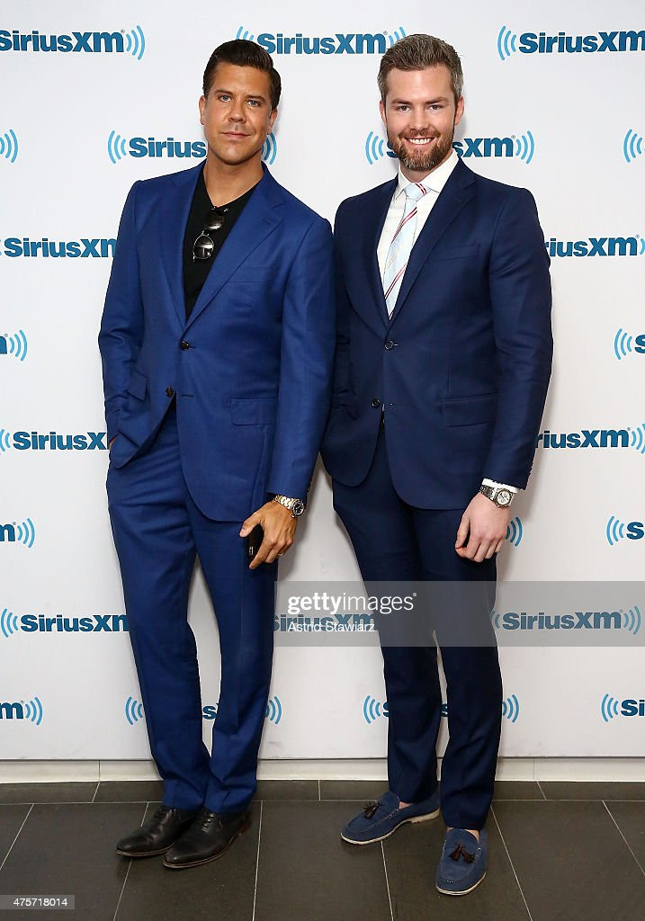 TV Personalities from 'Million Dollar Listing New York' Fredrik Eklund and Ryan Serhant visit the SiriusXM Studios on June 3 2015 in New York City