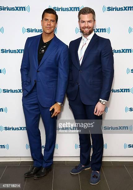 TV Personalities from 'Million Dollar Listing New York' Fredrik Eklund and Ryan Serhant visit the SiriusXM Studios on June 3 2015 in New York City