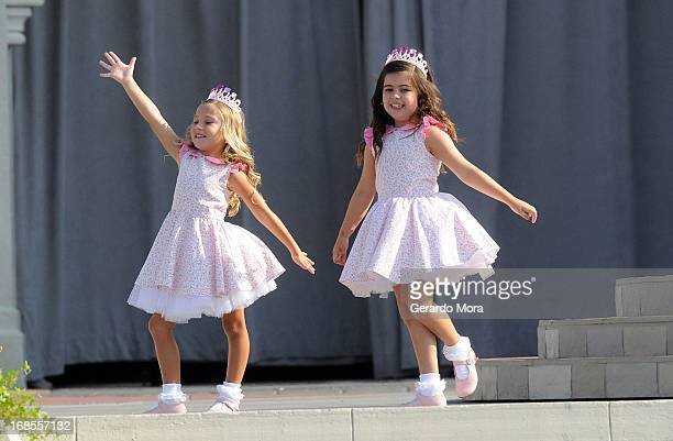 TV personalities from ÒThe Ellen DeGeneres ShowÓ Rosie McClelland and Sophia Grace Brownlee perform during a royal celebration at the Magic Kingdom...