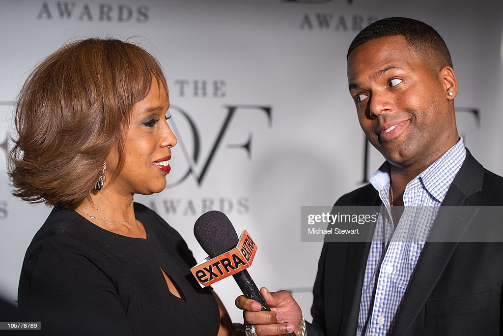 TV personalities <a gi-track='captionPersonalityLinkClicked' href=/galleries/search?phrase=Gayle+King&family=editorial&specificpeople=215469 ng-click='$event.stopPropagation()'>Gayle King</a> (L) and AJ Calloway attend the 2013 DVF Awards at the United Nations on April 5, 2013 in New York City.