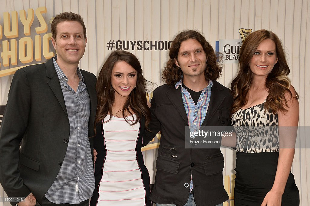 TV personalities Geoff Keighley, Katie Linendoll, Amanda MacKay and Daniel Kayser attend Spike TV's Guys Choice 2013 at Sony Pictures Studios on June 8, 2013 in Culver City, California.